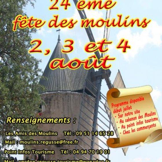 2, 3 et 4 août Fête des Moulins